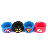 Vape band rings ( Pack of 4 one of each design ) 19mm x 12mm New Batman Superman Captain America Flash For RTA RDA Atomizers UKSELLINGSUPPLIERS