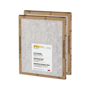 Nexcare 3M FPA02-2PK-24 White Flat Panel Filtrate Filter, 20 x 20 x 1 inch - Pack of 24