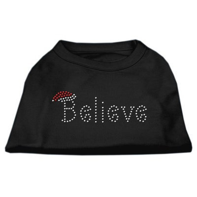 Mirage Pet Products 522502 XLBK Believe Rhinestone Shirts Black XL 16