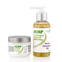 Facial Moisturizer Cream & Face Wash for Women & Men, Natural Organic Skin Care KIT Enriched with Hemp Seed Oil, Vitamins C & E & More, Anti-Wrinkle Anti-Aging Daily Regimen for Dry, Sensitive & Oily
