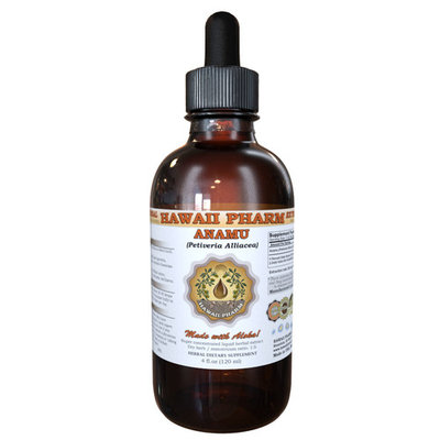 Anamu (Petiveria Alliacea) Tincture, Dried Herb Powder Liquid Extract, Guinea Henweed, Herbal Supplement 4 oz