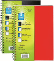 Plastic Poly Note Book - 3 subject - 150 sheets-10.5x8 (Pack of 36)