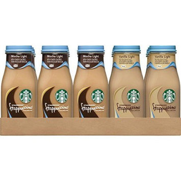 Pepsi Starbucks Frappuccino, Mocha Light and Vanilla Light Flavors, Variety Pack, 9.5 Fl Oz, 15 Count