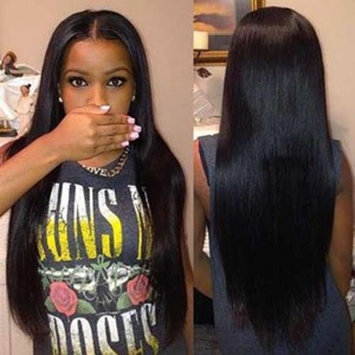 ISEE Hair 8A Peruvian Remy Hair Silky Straight Hair Weave 100% Unprocessed Peruvian Straight Hair 3 Bundles Natural Color 16 18 20inches