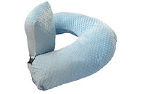 The Twin Z Company The 4 in 1 One Z BLUE Nursing Pillow w AMAZING BACK SUPPORT- BLUE COLOR COVER