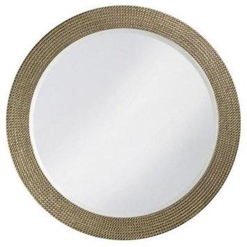 42 in. x 42 in. Resin Round Framed Mirror