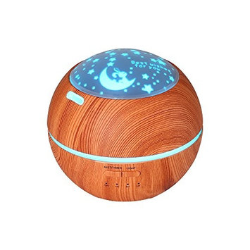 Kaliou Wholesale 150 ML Mini Aroma Essential Oil Diffuser, Wood Grain Cool Mist Humidifier, Portable Ultrasonic Humidifier With 7 Color Changing LED Lights, Water-less Auto Shut-off for Home