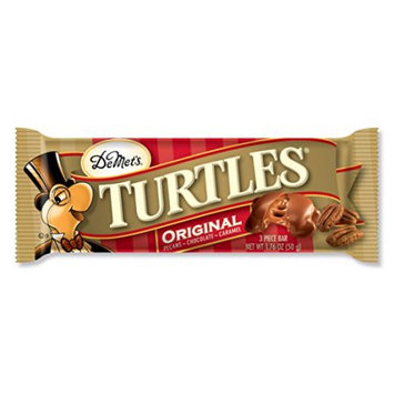 Demet's TURTLES MILK CHOC 3-PIECE BARS