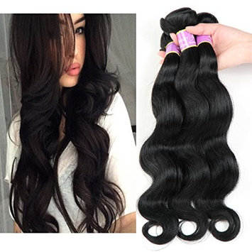 Beauty Youth Brazilian body wave Virgin Hair 3 Bundles Brazilian body wave 7A Unprocessed Virgin Hair Human Hair Bundles …