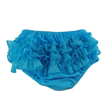 Reflectionz Baby Girls Turquoise Ruffle Cotton Diaper Cover Bloomers 3-18M