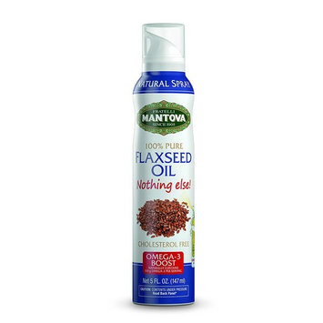 Mantova 100% Flaxseed Oil Spray 8 oz. Spray Bottle - Manage Oil Amount - Great For Salads & Cooking