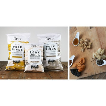 EPIC New Artisanal Pork Rinds Snack 2.5oz (Sea Salt & Pepper, 2 Pack)