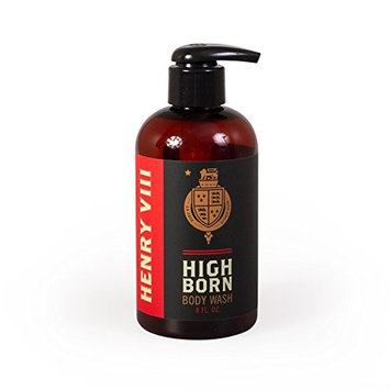 Henry Viii Highborn Body Wash, 8 Oz. - 70% Certified Organic Ingredients - Moisturizing Coconut and Sugar - Vital Nourishment for Supple Skin