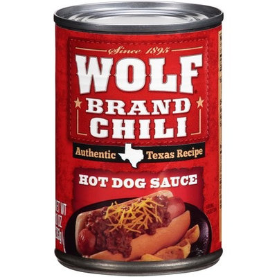 Wolf Brand Chili Hot Dog Sauce, 10 Ounce