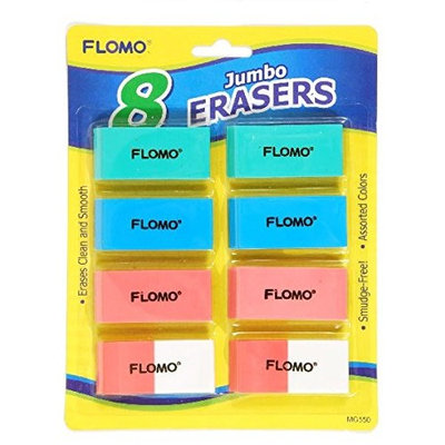 Flomo 8 Pack Rubber Erasers(pack Of 48)