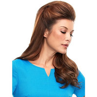 Top This 16 Inches Long Color 24B613S12 - Jon Renau Wigs Remy Human Hair Topper Women's Monofilament Clip In Crown Volumizer Top Piece