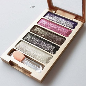 5 Color Glitter Eyeshadow Makeup Eye Shadow Palette by XILALU
