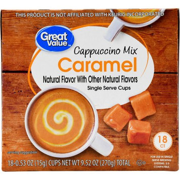 Great Value Caramel Cappuccino Mix Single Serve Cups, 18 Count
