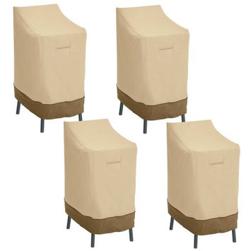 Classic Car Accessories Classic Accessories Veranda Patio Bar Chair/Stool Cover - Durable and Water Resistant Patio Cover, 4-Pack