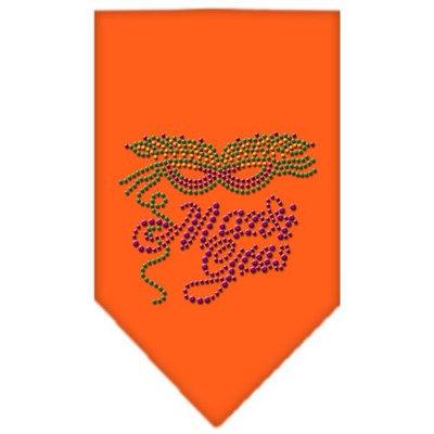 Mirage Pet Products 6747 SMOR Mardi Gras Rhinestone Bandana Orange Small