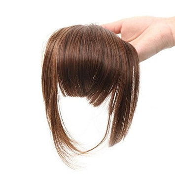 AOERT Bob Hair Bang Heat Resistant Kanekalon Synthetic Hair Clip-in Bangs - Three Color Straight Clip in Bang (#2)