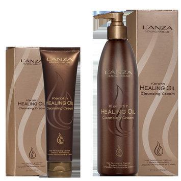 L'ANZA Keratin Healing Oil Cleansing Cream, 10.1 oz.