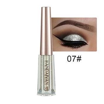 YOYORI Eye shadow,12 Colors Metallic Shiny Smoky Eyeshadow Waterproof and Long-lasting Glitter Liquid Eyeliner Eyeshadow Pen Cosmetic