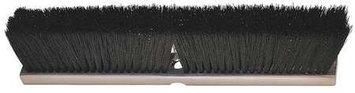 LAITNER 214 Push Broom Head, Synthetic, Black,2-7/8in