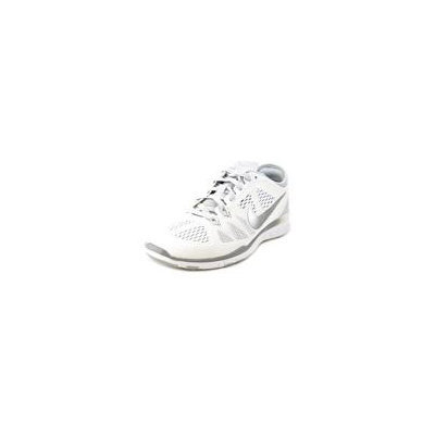 Nike 704674 Free 5.0 TR Fit 5 Women's Training Shoes - White/Pure Platinum/Metallic Silver - 8