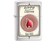 Zippo Lighters 28831 Zippo Trading Cards Brushed Chrome Finish Lighter