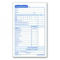 Adams D4743 Employee Payroll Record Book 2-part 4.19x7.19 55 ST per BK