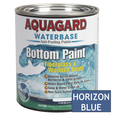 Aquaguard Aquagard 38703M AQUAGARD WATERBASED BOTTOM PAINT QUART HORIZON BLUE