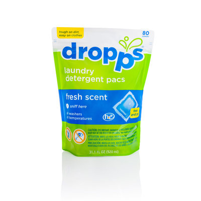 Dropps Laundry Detergent Pacs, Fresh Scent
