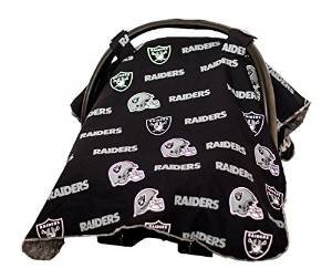 Baby Fanatic Car Seat Canopy, Oakland Raiders OAR901