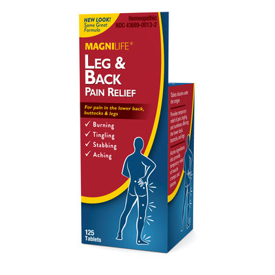 Magnilife Leg & Back Pain Relief Tablets, 125 ea