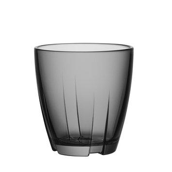 Kosta Boda Stackable Glass Tumbler (Set of 8)Smoke Grey - Small