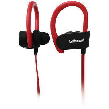 Billboard BB897 Bluetooth(R) Earhook Headset with Microphone (Black/Red)