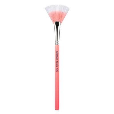 Bdellium Tools Pink Bambu 925P Duet Fiber Fan Brush