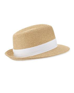 Eric Javits Women's Fashion Designer Headwear Squishee Classic in Peanut/White