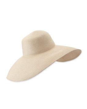 Eric Javits Women's Fashion Designer Headwear Floppy Hat in Cream