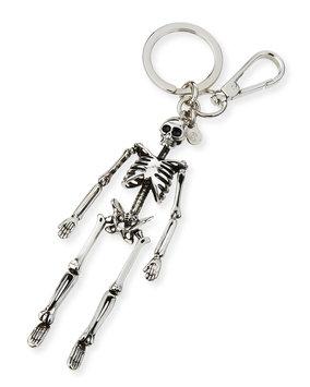 Puma Brass Skeleton Key Ring, Silver - Alexander McQueen