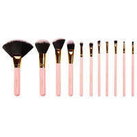 BH Cosmetics Dot Collection 11 Piece Brush Set Pink With Polka Dot Case