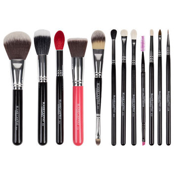 Blank Canvas Cosmetics Face and Eye 12 Piece Brush Set