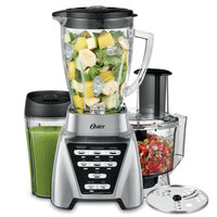 Oster Pro 1200 PLUS Blend-N-Gor Smoothie Cup & Food Processor Attachment - Brushed Nickel - Glass Jar BLSTMB-CBF-000