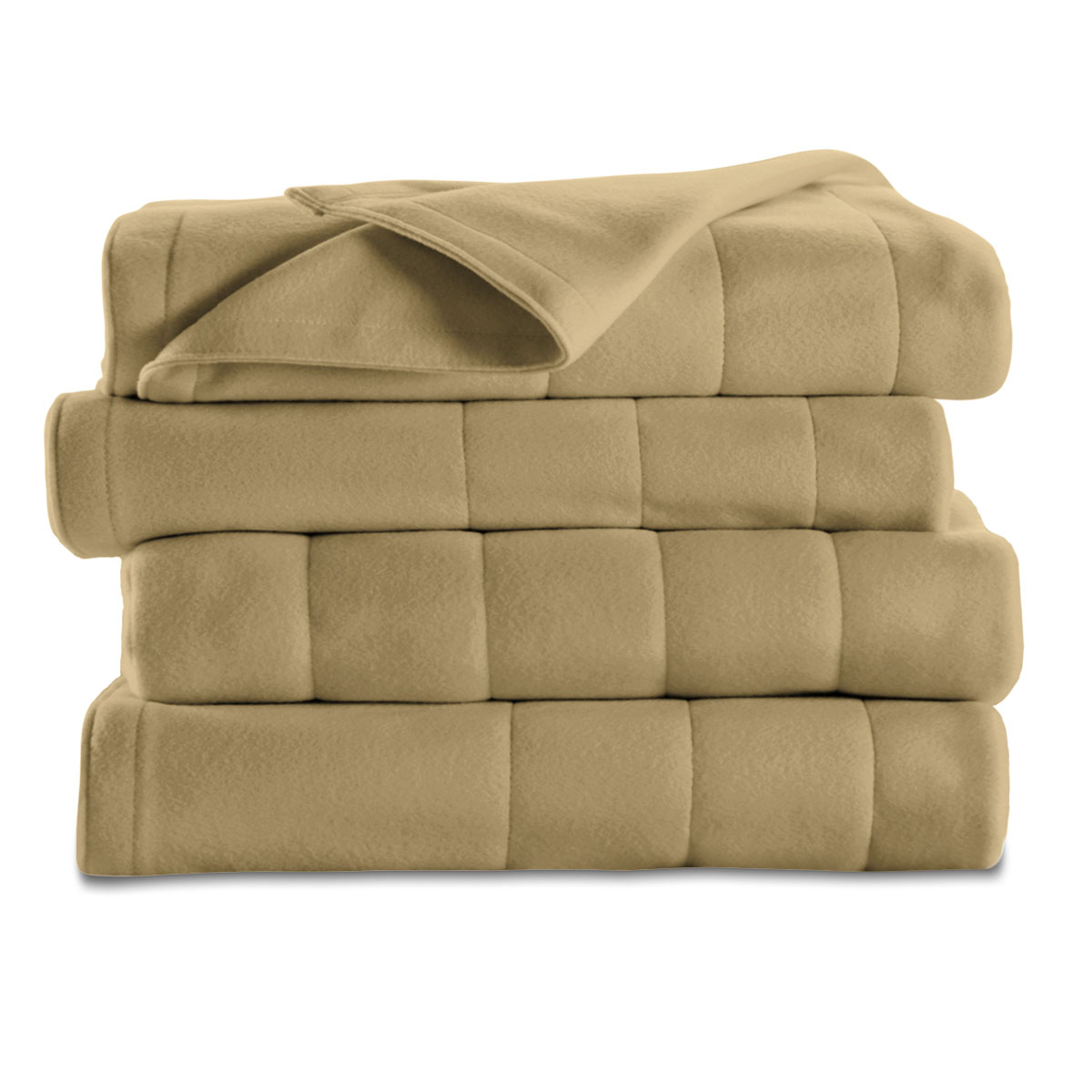 Sunbeamr King Quilted Fleece Heated Blanket, Acorn BRF9HKS-R727-13A44