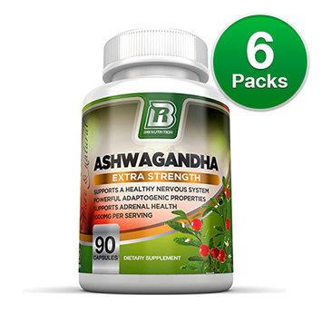 BRI Nutrition Ashwagandha 90 Capsules (6-Pack) Ashwagandha - 90 Capsules