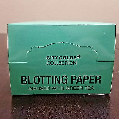 City Color F-0054C Blotting Paper - Green Tea Scented