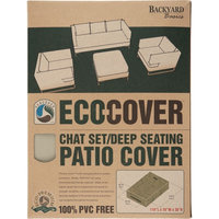 Mr. Bar-b-q Backyard Basics Chat Set/Deep Seating Patio Cover - Supports Chat Set/Deep Seating - PVC-free, Weather Resistant, Dirt Resistant, Dust Resistant, Pollen Resistant, Sap Resistant, Rain Resistant, Tie-down Strap, Temperature Resistant, Drawstring - Fabric