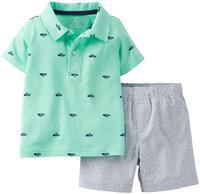 Carter's® Baby Boys' 2-Piece Jersey Top & Cotton Shorts Set