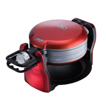 Oster DuraCeramicT Titanium Infused Double Flip Waffle Maker CKSTWF20R-TECO